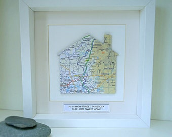 Personalised Home Map Picture | Housewarming Gift | Personalised New Home Gift
