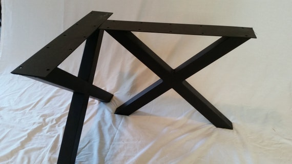 metal table legs x frame table legs by basemetaldesign on etsy