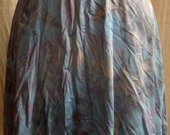 Short Aline tie dye vintage skirt blue silver by momosohovintage