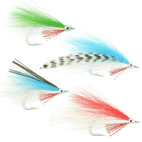 Lefty's Deceiver Fly Fishing Flies Collection - Assortment of 4 Saltwater and Bass Flies - Hook Size 1/0