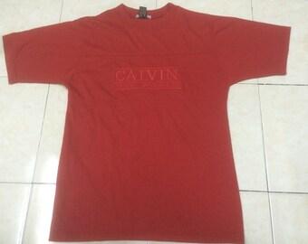 Vintage Calvin Klein tshirt  Calvin logo tee Made In Mexico Size S