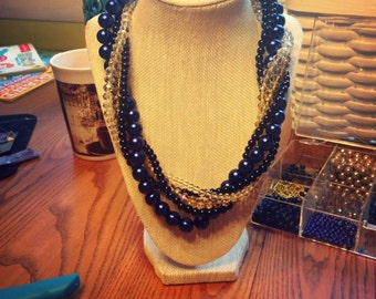 Twisted Multi-Strand Bridal Necklace