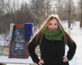 Wool Blend Infinity Scarf (Large)