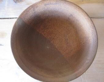 Oatmeal brown stoneware bowl