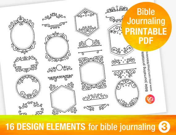 16 PRINTABLE TEMPLATES For Bible Journaling By