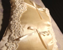 Faith cushion lace and satin