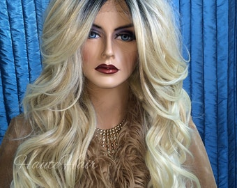 Nordic Blonde Rooted Realistic Ombre Lace Front Wig