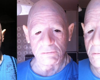 Silicon mask  old man  maschera in silicone