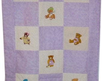 Adorable Embroidered Baby Crib Quilt