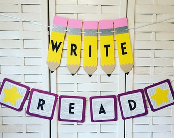 Read & Write Banners-Teacher Gift-Classroom Decorations-Reading Corner- Teacher Appreciation- Language Arts - English Class - Back To School