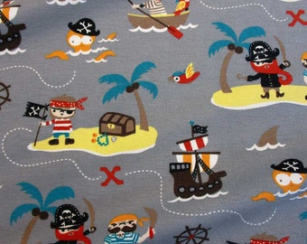 jersey cotton spandex pirates treasure island  Oekotex 100