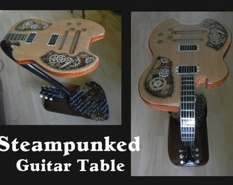 Steampunked Guitar Table