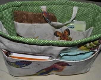 Fabric Bag organizer/ Insert handbag organizer/ Purse Organizer/Purse insert/Bag in bag