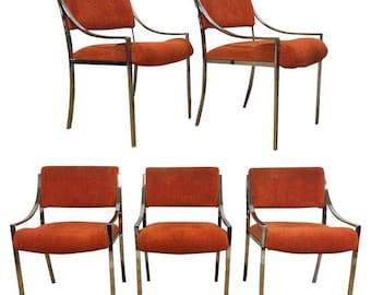 Milo Baughman Chrome Dining Chairs - Set of 5