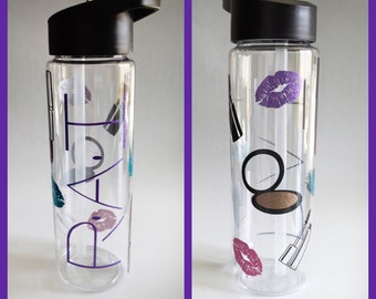 Glitter makeup 24oz water bottle