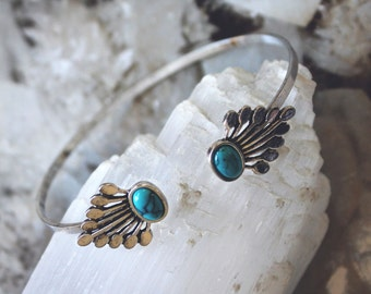 Silver and Turquosie Southwestern Bangle