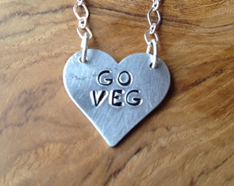 Go Veg Heart Necklace