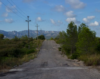 Spanish mountain rural road skyline, Fine Art Photography Print