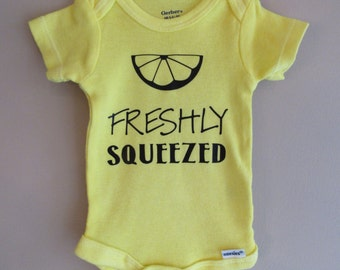Freshly Squeezed Onesie Bodysuit - Funny onesie - New baby gift - Baby shower gift