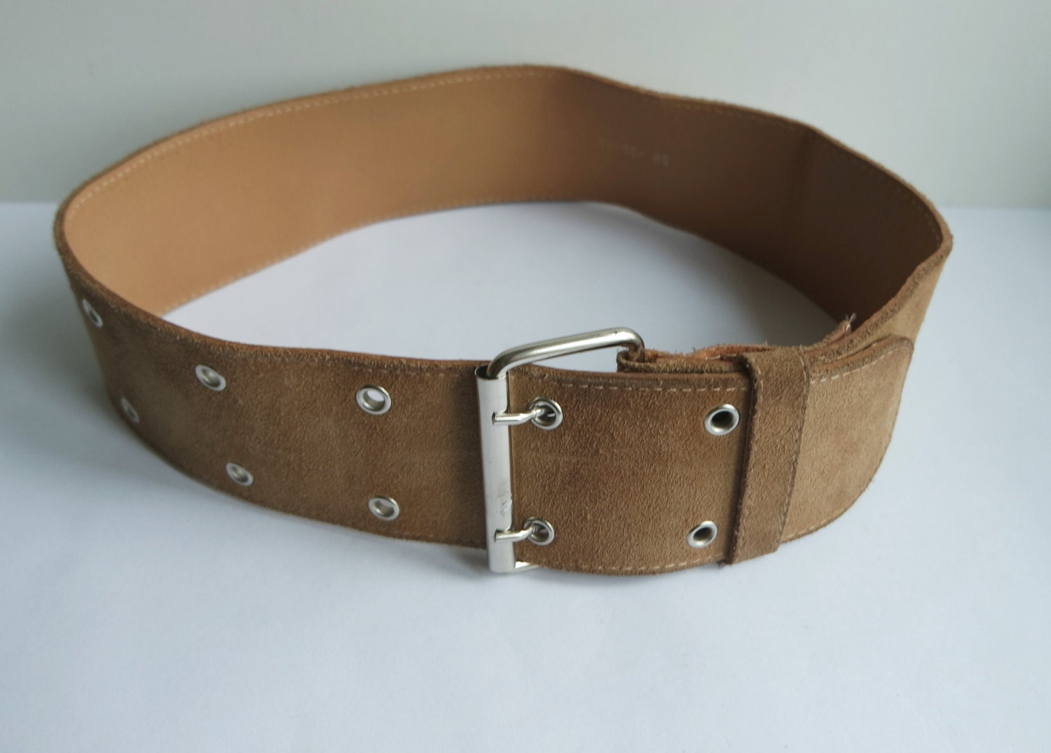 s light brown wide belt wide faux leather belt