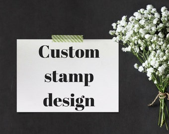 Design add on for Custom rubber stamps