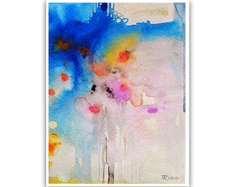Abstract Watercolor painting, Art Print Abstract PRINT, Giclee Print, Art Painting, Tatjana Ruzin, Wall Art, Home Decor, Wall Decor
