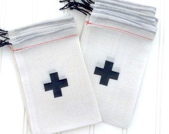 3x5 Or 4x6 Hangover Kit Bag With Black Cross