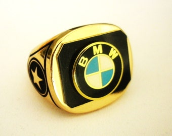 BMW 18 Carat Gold Plated Ring