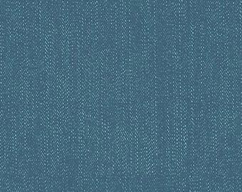 Navy Denim - Lucky Star by Zoe Pearn for Riley Blake, faux denim, cotton, spandex, knit, 4way stretch, blue, jersey, lycra, K4835R-NAVY