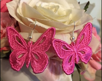 Free Standing Lace Butterfly Earring