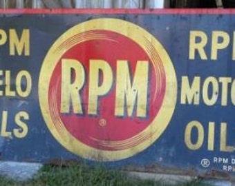 RPM Delo Motor Oil Vintage Sign