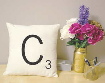 Pillow Cover, 16x16, Scrabble Letter Tile