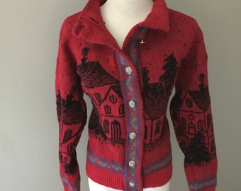 Vintage Cozy Wool Sweater Small