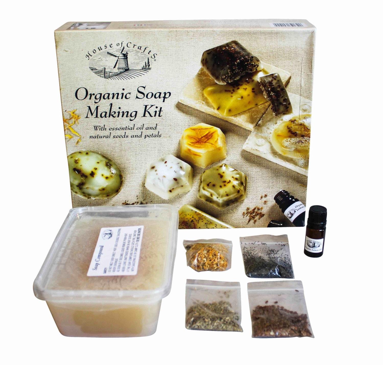 Organic Bathroom: New House Of Crafts Organic Bath Soap Making Kit Natural Seeds