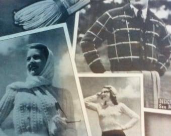 Brair 1950's Knitting Book with Child's Onesie