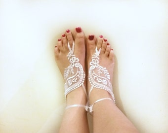 Pearl & Lace Barefoot Sandals