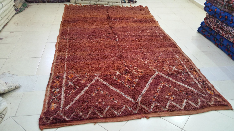 Beautiful vintage moroccan beni mguild rug tapis berbère