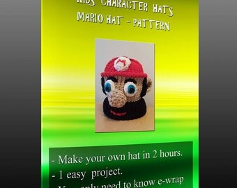 Kids character hats - Mario pattern