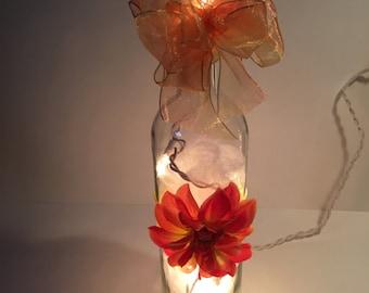 Orange Flower Bottle