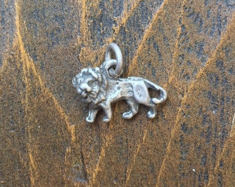 Lion #2, 925 Silver, Charm- Free Shipping within USA