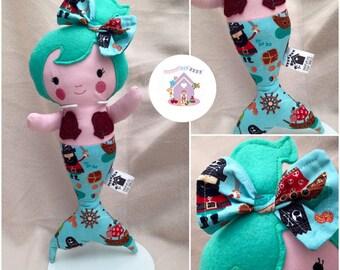 Jade The Merbaby - Handmade Fabric Doll - Ready To Buy