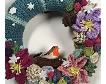 Wintertide Decorative Crochet Wreath