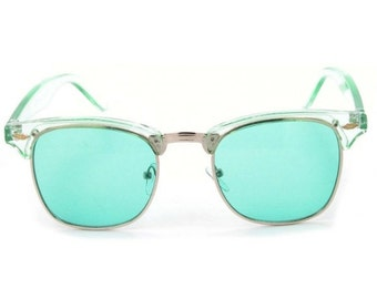 Lime Green Vintage Deadstock Clubmaster Sunglasses