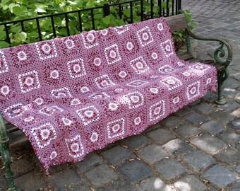Granny square blanket Gr. 190/160 cm
