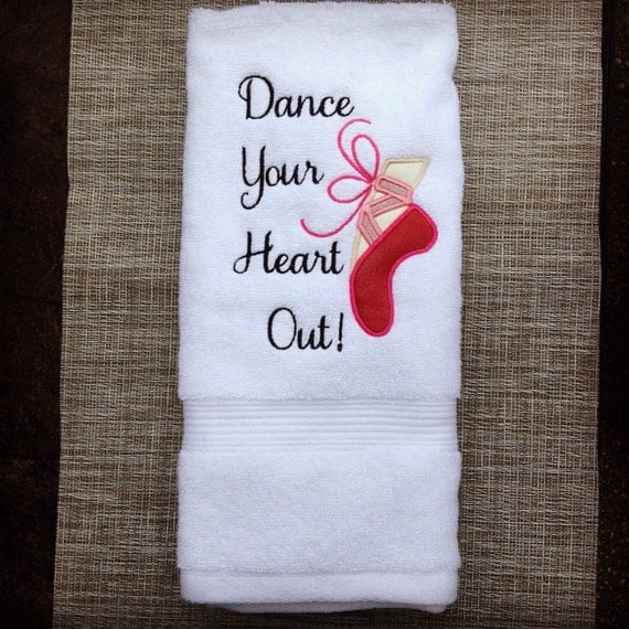 Dance Your Heart Out Embroidered Applique Ballet Shoe