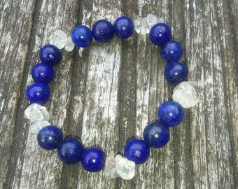 lapis lazuli & quarz bracelet