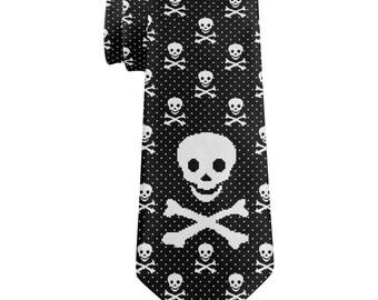 Big Skull 8 Bit All Over Neck Tie