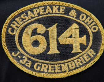 Vintage Chesapeake & Ohio Railroad RR Patch Richmond Virginia Cleveland Ohio