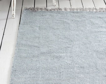 Grey Gray Rug / Handwoven Cotton / The Hilla