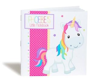 Personalised Rainbow Unicorn Notebook